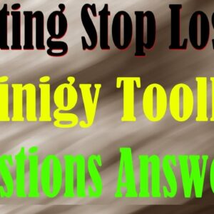 Coinigy Toolbar Explained - Group Questions Answered - Setting Stop Losses - Drawing Triangles