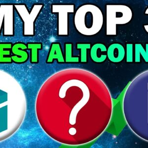 These Altcoins Will KEEP PUMPING (My Top 3 Coins RIGHT NOW)