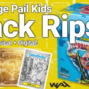 Garbage Pail Kids FOOD FIGHT Pack Opens (Physical AND Digital cards)
