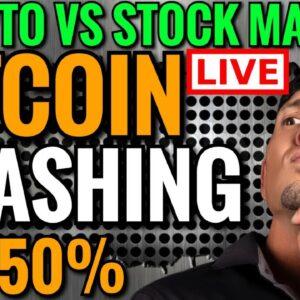 BITCOIN NEWS LIVE: BITCOIN CRASHING: STOCK MARKET vs CRYPTO MARKET