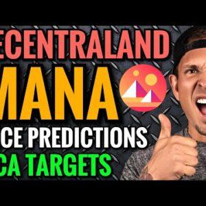 MANA PRICE PREDICTIONS 2021:  Decentraland Bear Market DCA Targets