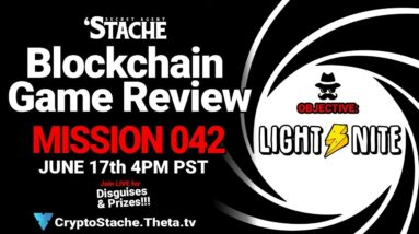 Secret Agent 'Stache - Mission 042: LIGHT⚡️NITE (Earn Bitcoin In This FPS)