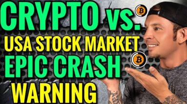 Crypto Vs Stock Market Crash 2021