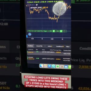 CRYPTO TRADES WE TOOK LIVE TODAY! I LOVE BYBIT!